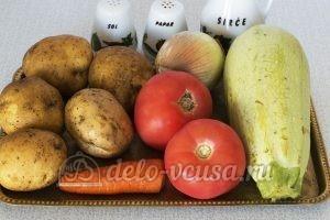 Овощное рагу с кабачками и картошкой: Ингредиенты