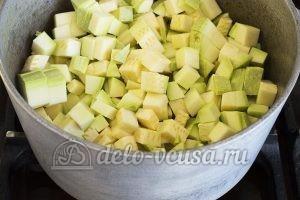 Овощное рагу с кабачками и картошкой: Тушим кабачок 10-15 минут