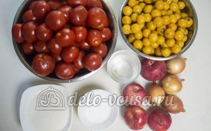 Кетчуп из помидоров и алычи: Ингредиенты