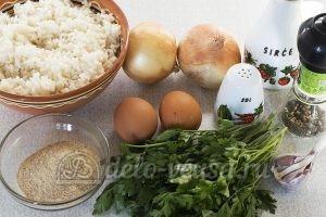 Котлеты из рисовой каши: Ингредиенты