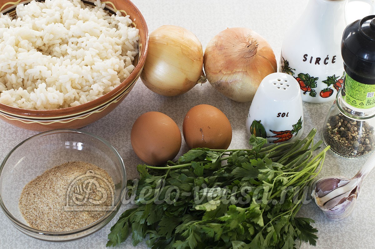 Котлеты рисовые рецепты с фото