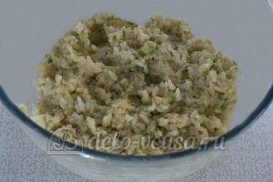 Котлеты из рисовой каши: Вымешиваем получившуюся массу