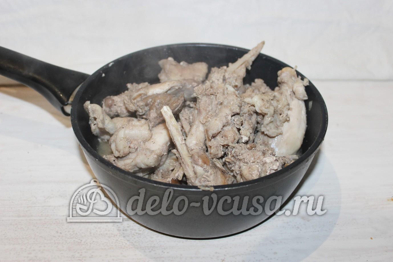 Тушеный кролик в духовке: Снять кролика с плиты