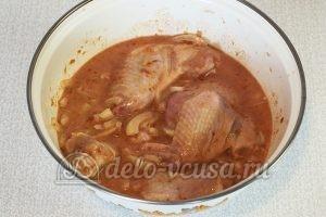 Крылышки в сметанно-томатном соусе: Маринуем 30 минут