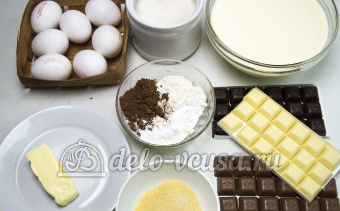 Торт Три шоколада: Ингредиенты