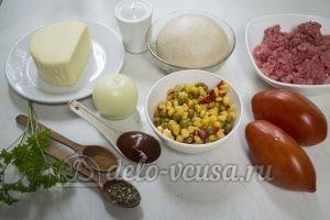 Домашняя пицца с фаршем: Ингредиенты