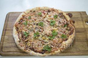 Домашняя пицца с фаршем
