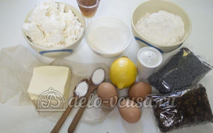 Пирог с творогом и маком: Ингредиенты