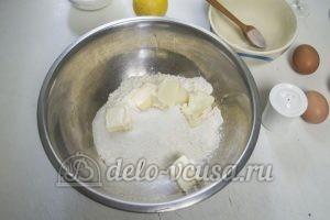 Пирог с творогом и маком: Соединить сахар и масло