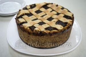 Пирог с творогом и маком: Кладем на блюдо