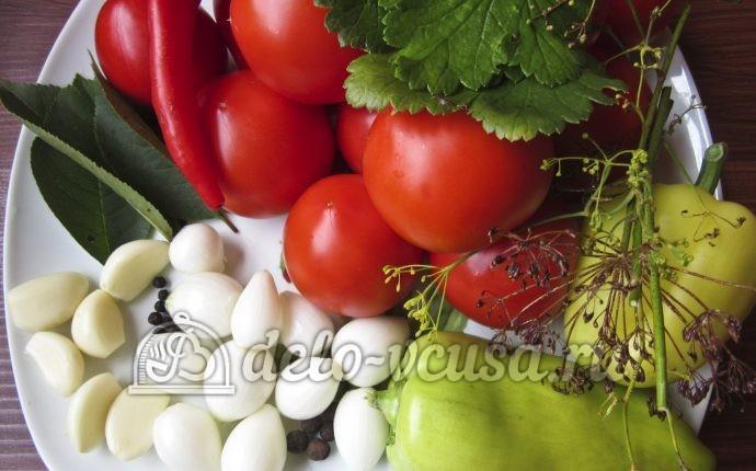 Помидоры с перцем и луком на зиму: Ингредиенты