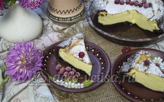 Шоколадная королевская ватрушка: фото блюда приготовленного по данному рецепту