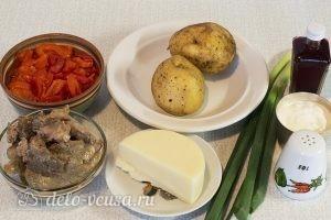 Салат из печени трески с сыром: Ингредиенты
