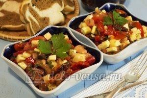 Салат с маринованным болгарским перцем