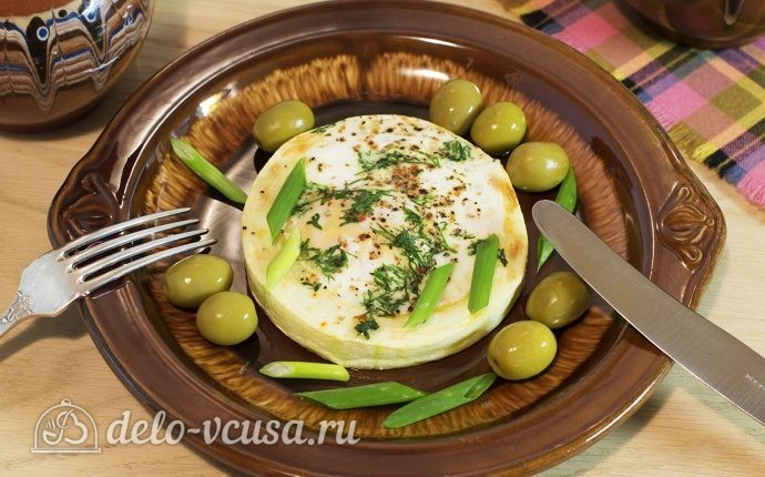 Яичница в кабачке: фото блюда приготовленного по данному рецепту