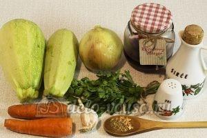 Жареные кабачки с морковью: Ингредиенты