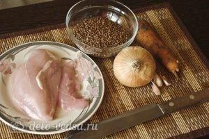 Гречка с курицей в горшочке: Ингредиенты