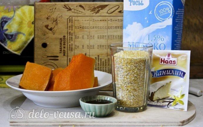 Кукурузная каша с тыквой в мультиварке: Ингредиенты