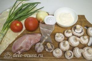 Лаваш с курицей и грибами: Ингредиенты