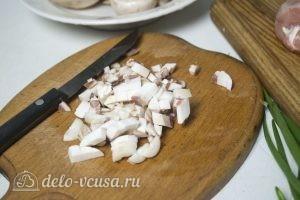Лаваш с курицей и грибами: Измельчить грибы
