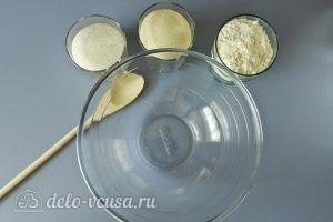 Насыпной пирог с яблоками и творогом: Готовим тесто