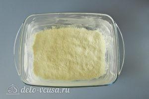 Насыпной пирог с яблоками и творогом: Насыпаем сухое тесто