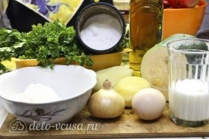 Оладьи из кабачков и картофеля: Ингредиенты