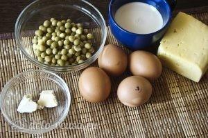 Омлет с горошком: Ингредиенты