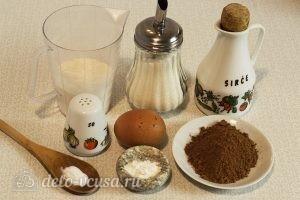 Шоколадное мраморное печенье: Ингредиенты