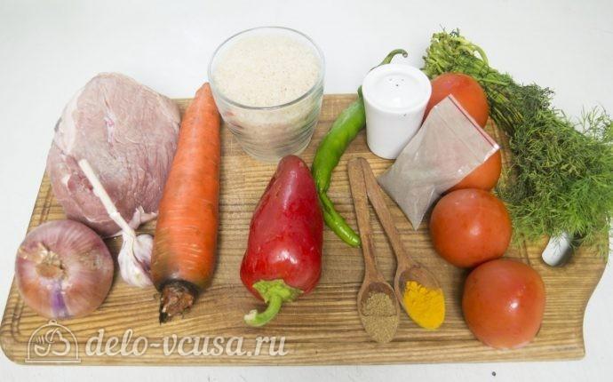 Плов с говядиной и помидорами: Ингредиенты