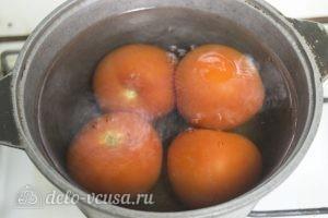 Плов с говядиной и помидорами: Помидоры окунуть в кипяток