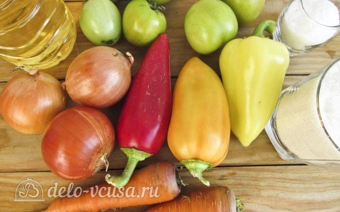 Салат из зеленых помидоров на зиму: Ингредиенты