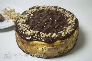 Сырник в шоколаде: Украшаем пирог