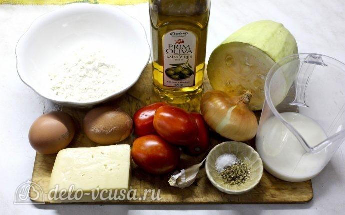Запеканка из кабачков, помидоров и сыра: Ингредиенты