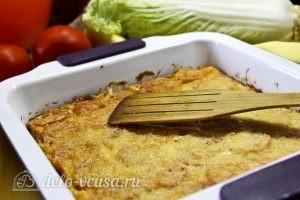 Запеканка из кабачков, помидоров и сыра: Выпекаем запеканку до румяной корочки