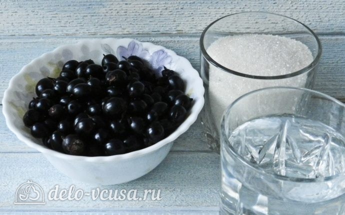 Желе из черной смородины: Ингредиенты