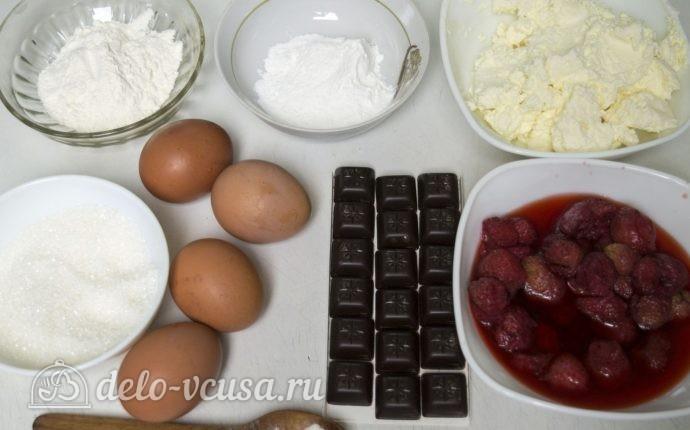 Бисквитный рулет с клубничным кремом: Ингредиенты
