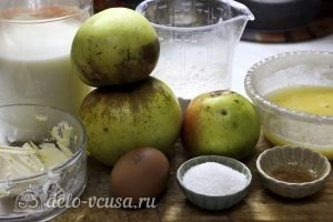 Блинчики с яблоками: Ингредиенты