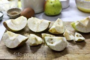 Блинчики с яблоками: Очистить яблоки