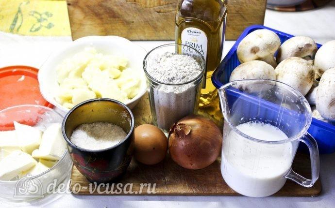 Блинчики с картошкой и грибами: Ингредиенты