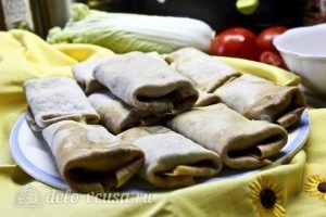 Блинчики с картошкой и грибами: Заворачиваем все блины
