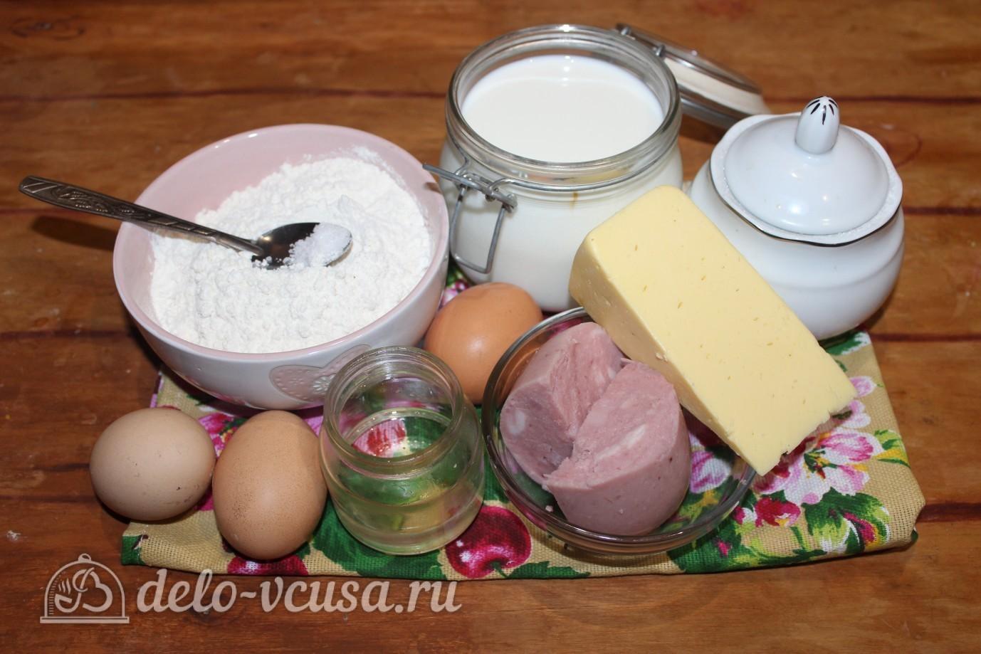 Блины с ветчиной и сыром: Ингредиенты