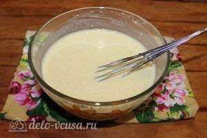 Блины с ветчиной и сыром: Замесить тесто