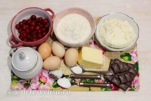 Брауни с творогом и вишней: Ингредиенты