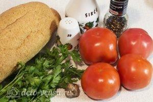 Бутерброды с помидорами и чесноком: Ингредиенты