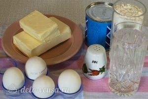 Домашние эклеры со сгущенкой: Ингредиенты