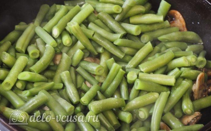Стручковая фасоль с грибами рецепт с фото - пошаговое приготовление грибов со стручковой фасолью