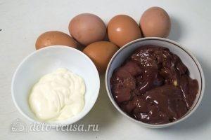 Яйца фаршированные куриной печенью: Ингредиенты