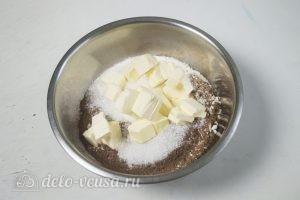 Кокосово-творожный пирог: Смешиваем все ингредиенты для теста