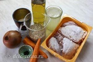 Курица с перловкой в горшочках: Ингредиенты